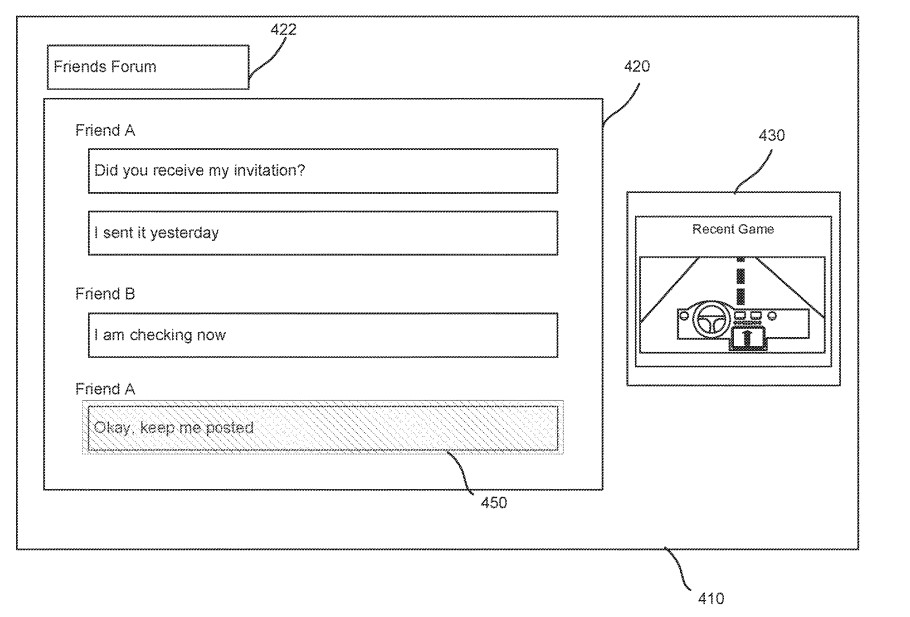 sony notification patent